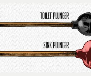 toilet plunger vs sink plunger