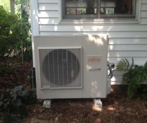 ductless mini split installed harrisburg outside